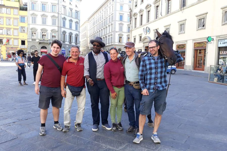 La BBC a Firenze per un documentario sui Medici con uno dei nostri cavalli!