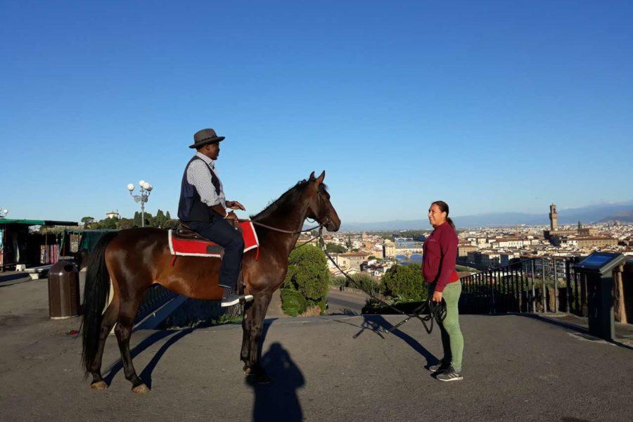 (Italiano) La BBC a Firenze per un documentario sui Medici con uno dei nostri cavalli!